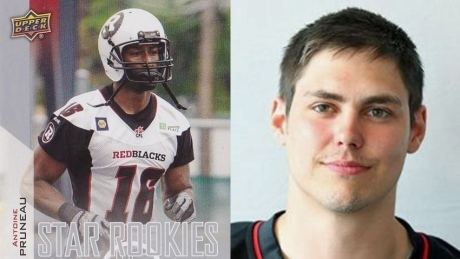 Antoine Pruneau Marcus Henry subs for Redblacks rookie in trading card