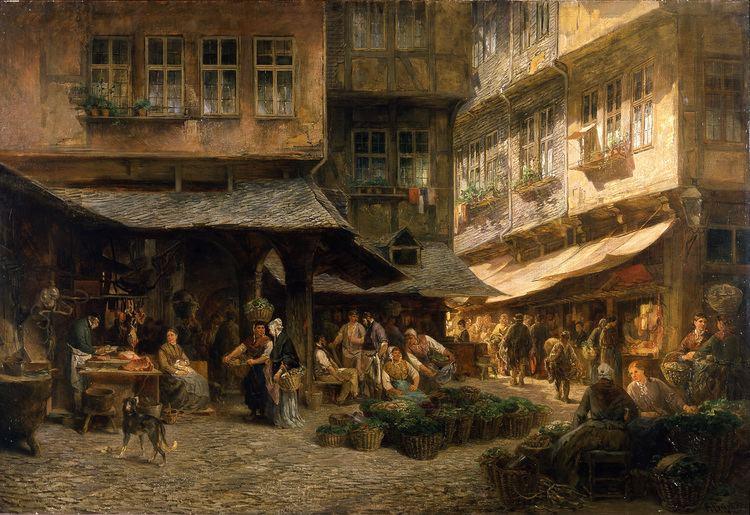 Anton Burger (artist) FileFrankfurt Am MainAnton BurgerDie Schirn am Alten Markt1869