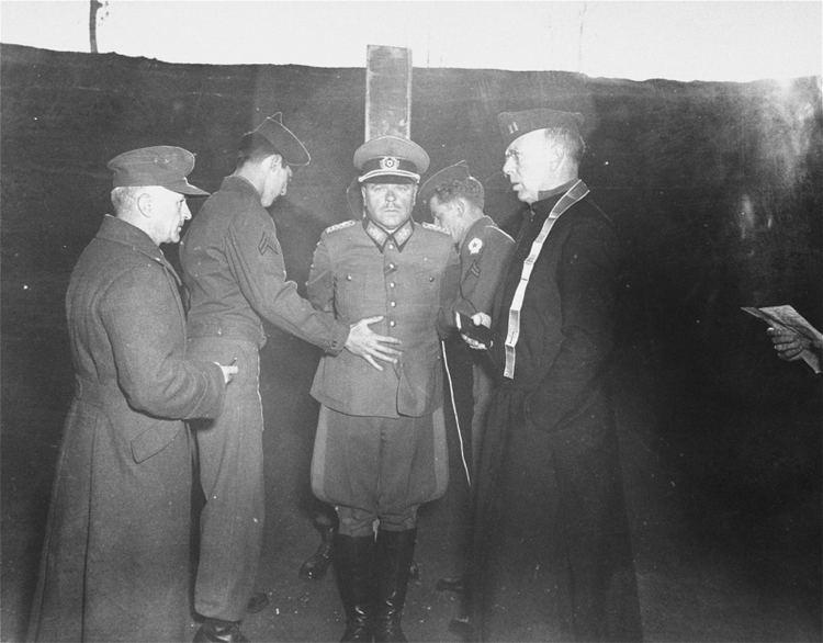 Anton Dostler American troops prepare Major General Anton Dostler for