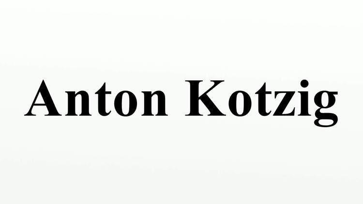 Anton Kotzig Anton Kotzig YouTube