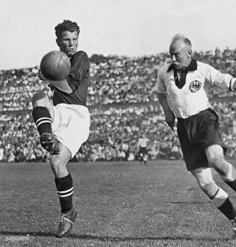 Anton Schall Germany 0 Austria 6 in May 1931 in Berlin Anton Schall scores one