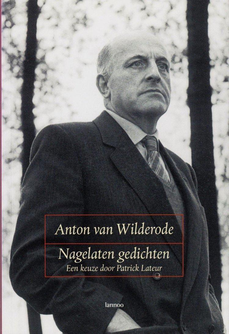 Anton van Wilderode Van Wilderode Anton Schrijversgewijs