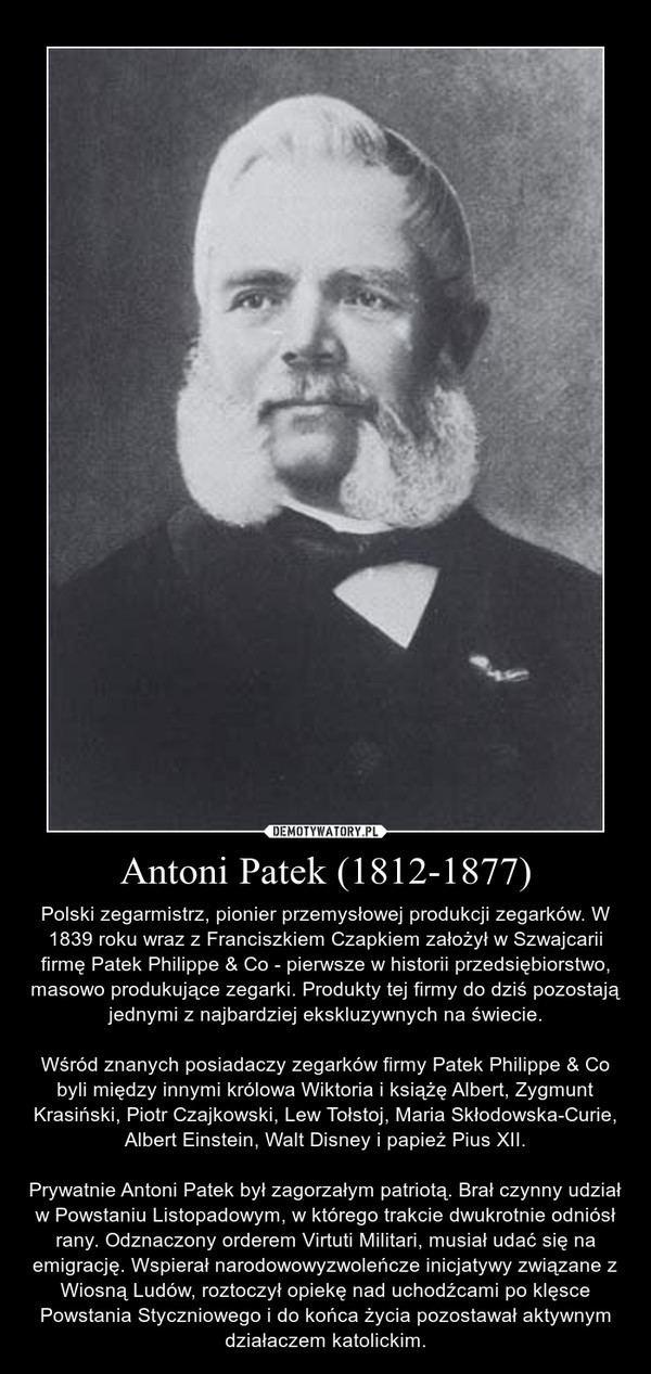 Antoni Patek Antoni Patek 18121877 Demotywatorypl