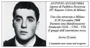 Antonio Annarumma La morte di Antonio Annarumma Il 19 novembre 1969 a Milano