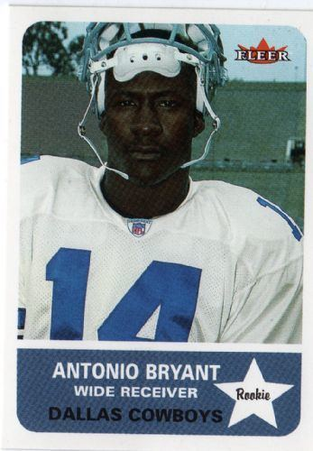 Antonio Bryant DALLAS COWBOYS Antonio Bryant 271 Rookie FLEER Tradition