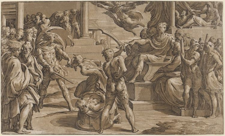 Antonio da Trento Antonio da Trento after Parmigianino The Martyrdom of Two Saints