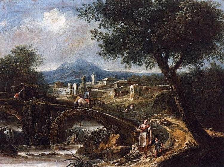 Antonio Diziani FileAntonio Diziani Landscape with Bridge WGA06354jpg
