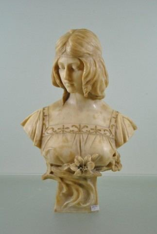 Antonio Frilli European Antiques Gilded bronze and alabaster bust