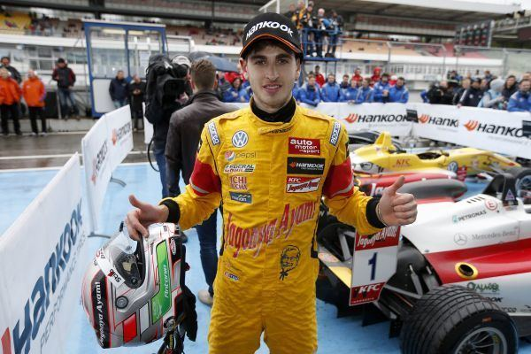 Antonio Giovinazzi Antonio Giovinazzi scores his first FIA F3 season win in