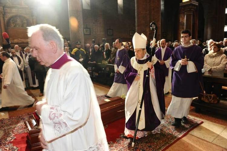 Antonio Lanfranchi Emozione ai funerali di Lanfranchi condoglianze dal Papa