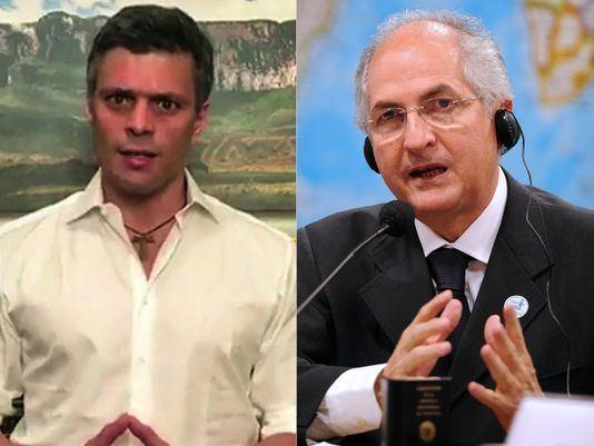 Antonio Ledezma Leopoldo Lopez and Antonio Ledezma Venezuelan opposition leaders