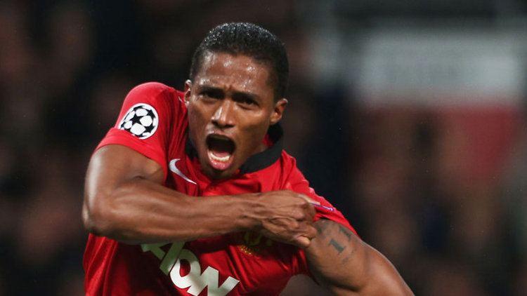 Antonio Valencia Manchester United winger Antonio Valencia dedicates goal
