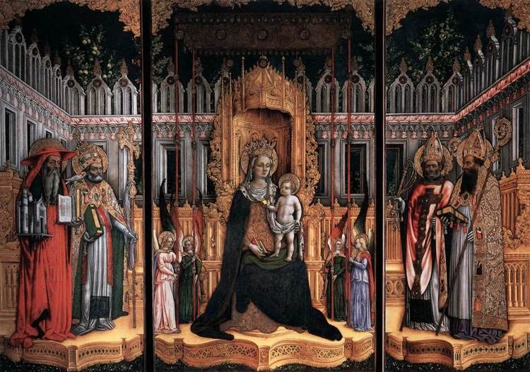 Antonio Vivarini Triptych by GIOVANNI D39ALEMAGNA