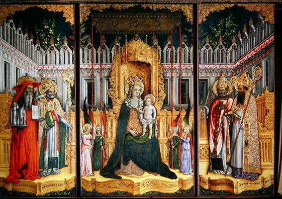 Antonio Vivarini The Virgin Enthroned with Saints Jerome Antonio