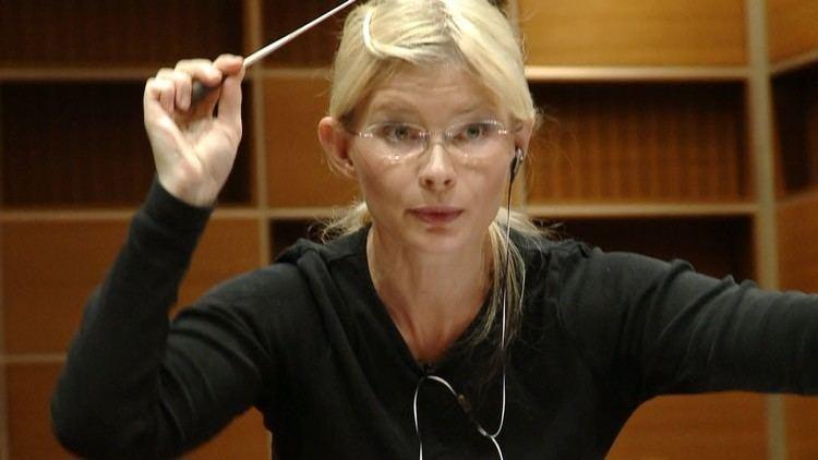 Anu Tali Dirigentin Anu Tali probt mit dem Mnchner