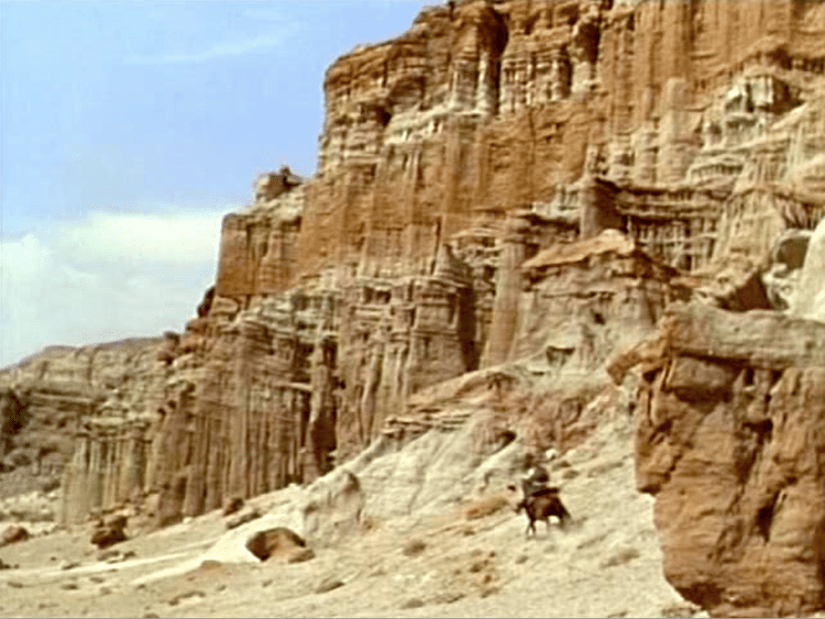 Apache Drums movie scenes Location shooting was done at Red Rock Canyon State Park scenes that must ve been incredible in dye transfer Technicolor The Joshua Trees elsewhere are a