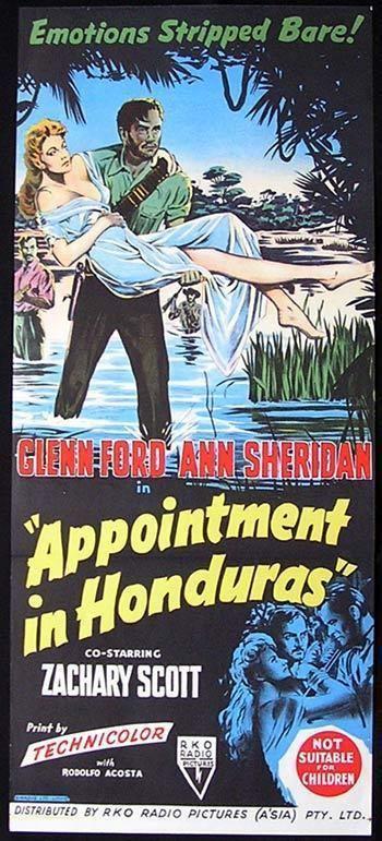 Appointment in Honduras APPOINTMENT IN HONDURAS 1953 Glenn Ford Film Noir Movie poster