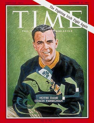 Ara Parseghian TIME Magazine Cover Ara Parseghian Nov 20 1964