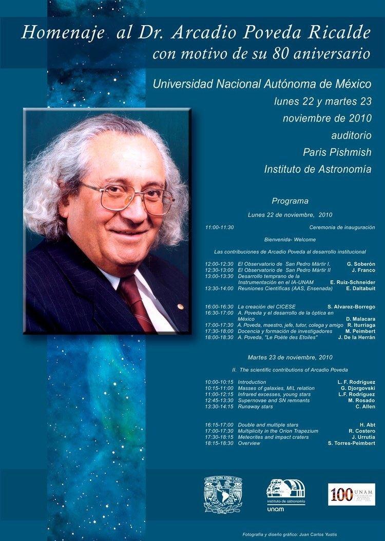 Arcadio Poveda La Estela Astronmica Homenaje Al Dr Ricalde