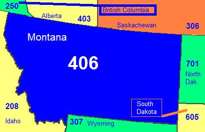 Area code 406