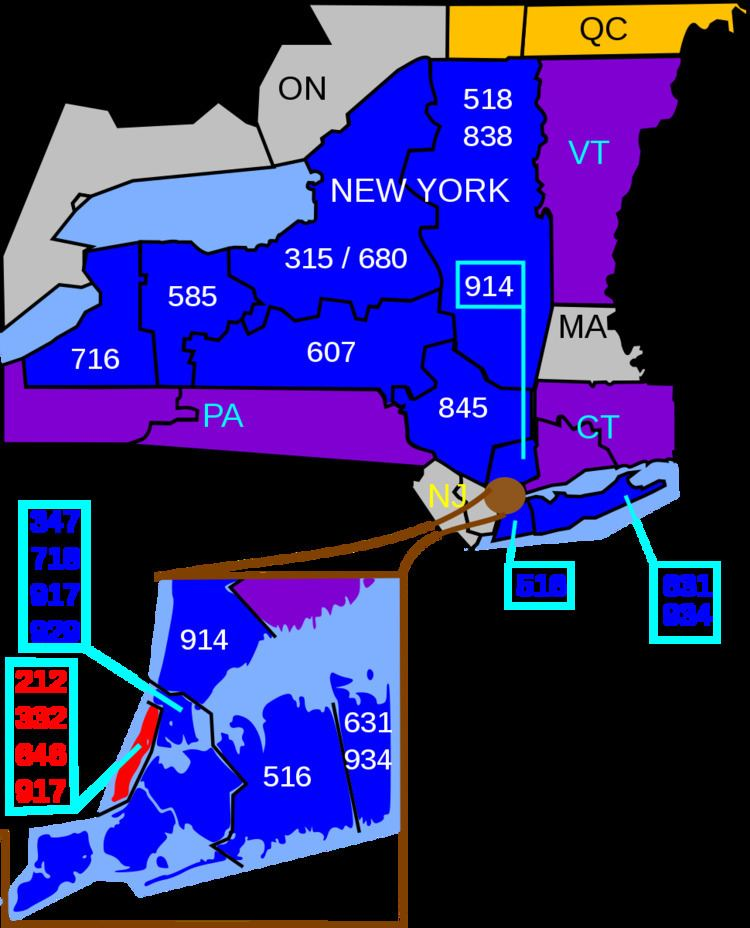 Area codes 212 and 646