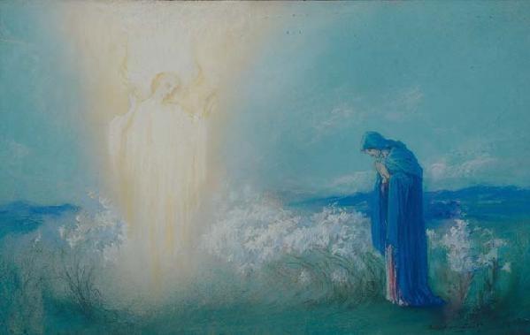 Arild Rosenkrantz The Annunciation c 1930 England by BARON ARILD ROSENKRANTZ 1870
