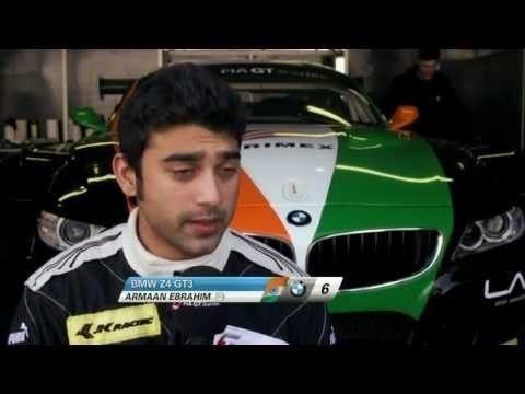 Armaan Ebrahim Armaan Ebrahim FIA GT France Preview YouTube