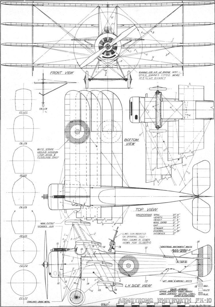 Armstrong Whitworth F.K.10 ArmstrongWhitworth FK 10 Quadruplane Article amp Plans JulyAugust