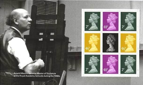 Arnold Machin 40th anniversary of the Machin British stamps 5 June 2007 from