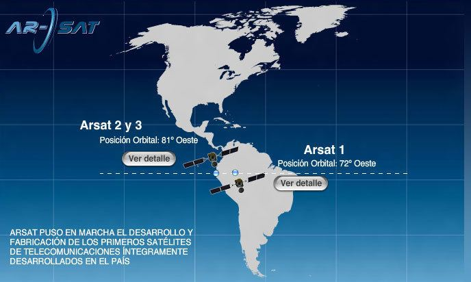 ARSAT-1 The Argentine Arsat1 satellite is launched in September and October