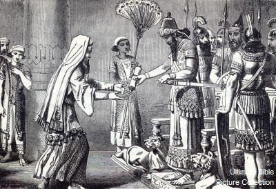 Artaxerxes I of Persia Ezra 7 Bible Pictures Ezra before King Artaxerxes