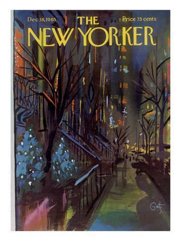 Arthur Getz The New Yorker Cover December 18 1965 Poster Print by