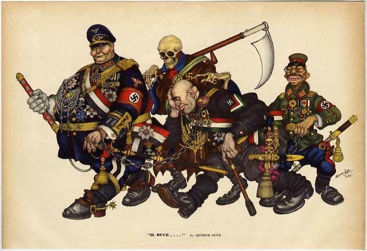 Arthur Szyk IL DUCE by ARTHUR SZYK 1942 Esquire Magazine print