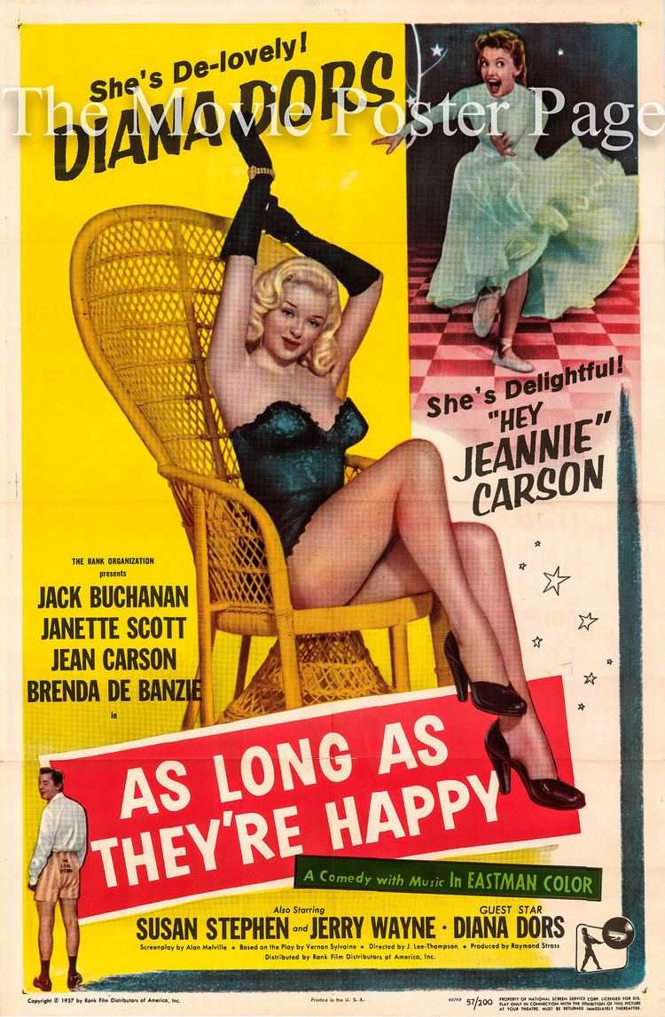 As Long as They're Happy As Long as Theyre Happy 1955 Diana Dors US onesheet F EX 125