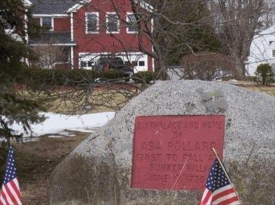 Asa Pollard Boston 1775 Asa Pollard Casualty on Bunkers Hill