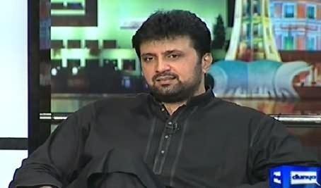 Asad Malik Mazaaq Raat Zaiba Shahnaz and Asad Malik 18th November