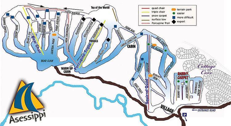 Asessippi Ski Area Asessippi Ski Area and Resort Ski Resort Guide Location Map