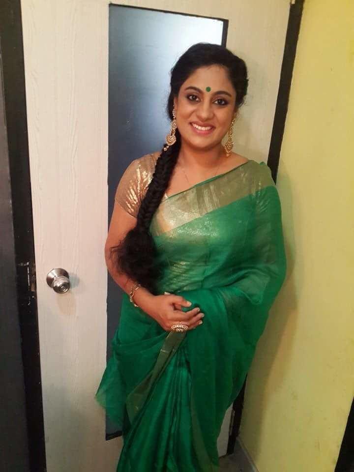 Asha Aravind Asha Aravind in green saree South Indian Culture