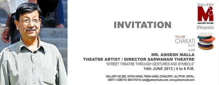 Ashesh Malla Mcube Chakati Guff with Ashesh Malla Theatre Artist Director