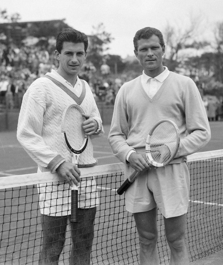 Ashley Cooper (tennis) FileAshley Cooper and Budge Patty 1958jpg Wikimedia Commons