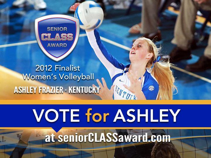 Ashley Frazier Ashley Frazier DI Volleyball 2012 Senior CLASS Award