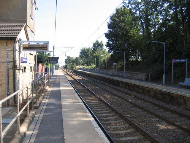 Ashwell and Morden railway station