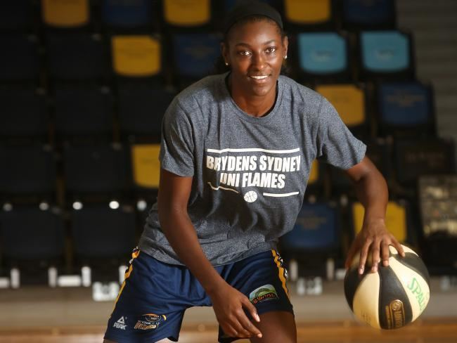Asia Taylor Asia Taylor at home with Sydney Uni Flames WNBL Amanda Lulham
