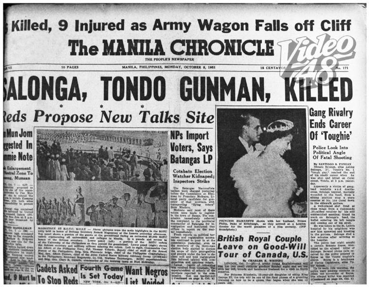 Asiong Salonga Video 48 OCTOBER 7 1951 quotASIONG SALONGAquot TONDO39S No1