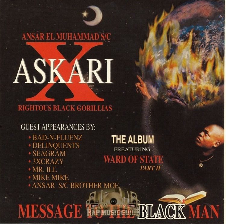 Askari X Askari X Message To The Black Man 1st Press CD Rap Music Guide