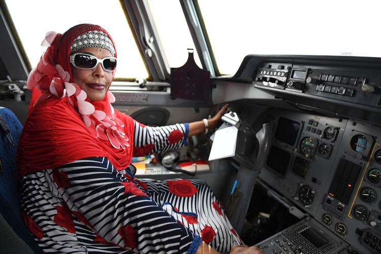Asli Hassan Abade Somalias first female pilot returns home and pledges support to the
