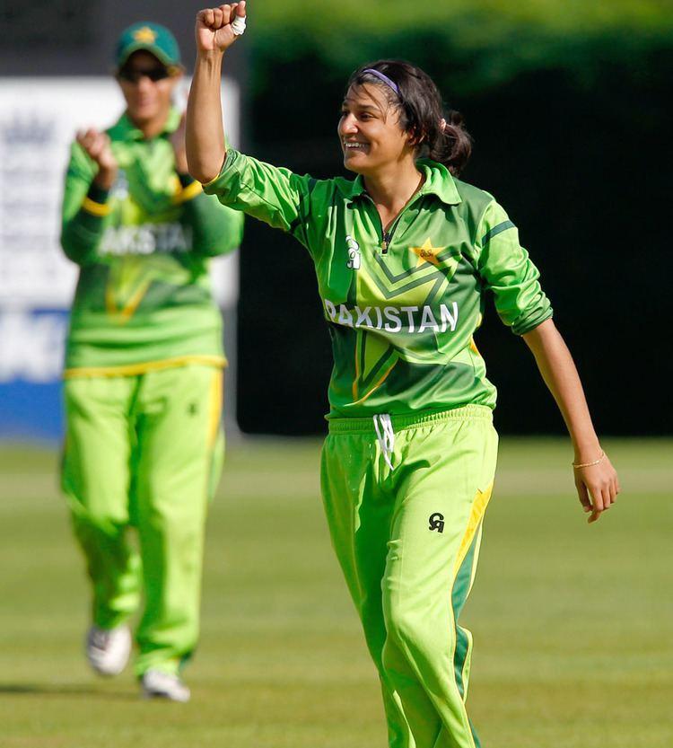 Asmavia Iqbal Asmavia Iqbal took four wickets England Women v Pakistan