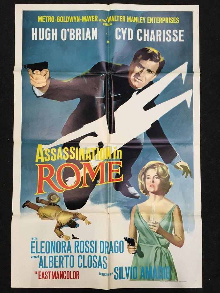 Assassination in Rome Assassination in Rome 1965 US one sheet film poster folded and