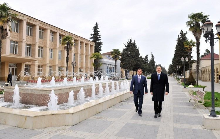 Astara, Azerbaijan Azerbaijani President Ilham Aliyev arrived in Astara region
