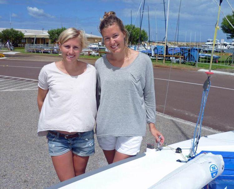Astrid Gabrielsson Swedish 470 team Lisa Ericson and Astrid Gabrielsson